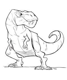 Funny Drawings, Cartoon Drawings, Animal Drawings, Drawing Sketches, Art Drawings, Dinosaur Sketch, Dinosaur Art, Dino Drawing, Art Reference Poses