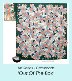 'Out Of The Box' has over 400 buttons and 400 tabs hand sewn on the surface of this textiles art. www.karlienorrishmcchesney.com