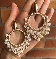 Seed Bead Earrings, Cute Earrings, Beaded Earrings, Statement Earrings, Earrings Handmade, Bead Jewellery, Diy Jewelry, Jewelery, Jewelry Making