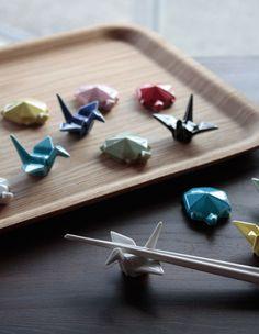 【楽天市場】ORITSURU[鶴] ORIGAME[亀] HASHIOKI / オリツル オリガメ 箸置き Nippon souvenir 箸置き はし ハシ 鶴亀 つる かめ atex アテックス【あす楽対応_東海】:interiorzakka ZEN-YOU