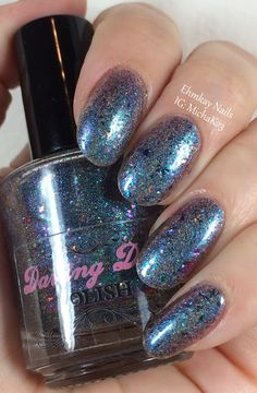 ehmkay nails: Darling Diva Tie-Dyed Ho Bag with Girly Bits Water Marble Stamping Plate
