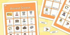 Ancient Greece Vocabulary Matching Mat - ancient greece