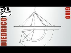 Hallar la verdadera magnitud de las aristas de un tetraedro irregular (Giro-Sistema Diédrico). - YouTube