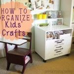 Kids' Craft Organization. this is going to come in handy in the next few months as I reorganize/declutter the whole house