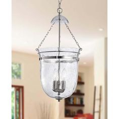 Nickel 3-light Lantern Chandelier - Overstock™ Shopping - Great Deals on Otis Designs Chandeliers