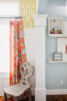 6th Street Design School | Kirsten Krason Interiors : THE STORY OF A ROOM: THE FINISHED ROOM - wall color Benjamin Moore Palladian Blue