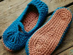 Knit Slippers similar to the ones my grandmother used to knit for me every holiday season.