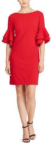 Ralph Lauren Lauren Flutter-Sleeve Jersey Dress