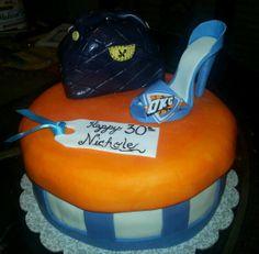 OKC Thunder bday cake- Flour de Lis custom cakes and treats. OKLAHOMA-  paulkandrea@yahoo.com www.facebook.com/flourdelisandrea