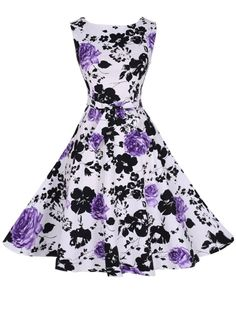 Buy Delicate Round Neck Floral Printed Skater-dress online with cheap prices and discover fashion Skater Dresses at Fashionmia.com.