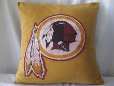 A Redskins pillow will certainly perk up any room.