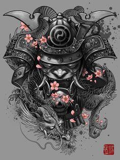 mascara samurai tattoo - Buscar con Google