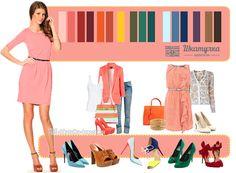 Culoarea piersicii în haine - combinații și fotografii Fashion Sets, Polyvore, Fashion Beauty, Style, Color Combos, Color Coordination, Beauty, Clothing, Swag