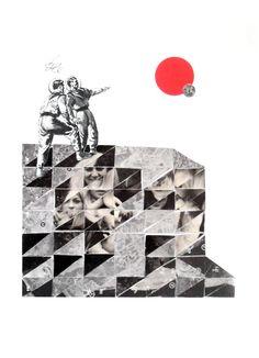 27/02/15 Encuentro especial #losdiascontados #diacolas #contemporanycollage #space #scifiart #illustration #art by Gust