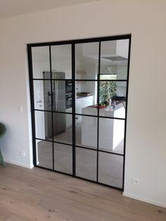 Loft, Crittal Doors, Steel Doors And Windows, First Apartment Decorating, Iron Doors, Cuisines Design, Home Living Room, French Doors, Home Remodeling
