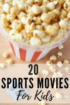 As a sports loving family, one of our favorite things to do is huddle around the t.v. and watch a funny or inspirational sports movie.  If you�re looking for something to do with the kids, tune in to any one of these flicks!