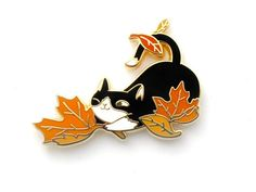 Loki Pin - Fall Foliage (cute tuxedo cat pin cute cat hard enamel lapel pin badge kitten cat lady ca Jacket Pins, Cat Pin, Cool Pins, Hard Enamel Pin, Metal Pins, Pin And Patches, Cat Lover Gifts, Pin Badges, Lapel Pins