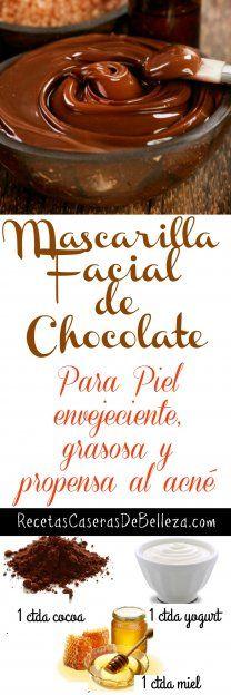 Mascarilla Facial Casera de Chocolate