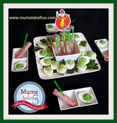 Green Eggs and Ham. Easy and delicious!  Great for parties and book week