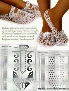 GIL CROCHET TRICOT: Sapatilha em crochet