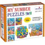 This Number Puzzles games helps your kids to learn and values and counting skills.