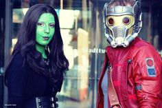 Gamora and Star-Lord  Cosplay by Velocipanda Cosplay and https://www.facebook.com/Henchman_of_Chaos-1451735525127927/ Picture by Wolfgang Korduletsch #guardiansofthegalaxy #cosplay #gamora #star-lord