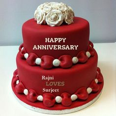 Happy Martiage Aniversary Wedding Anniversary Wishes Marriage Cake Pictures