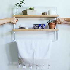 The Blanc Garden Shelf. Garden Shelves, French Oak, Product Design, Shelf, Space, Wall, Instagram Posts, Floor Space, Shelves