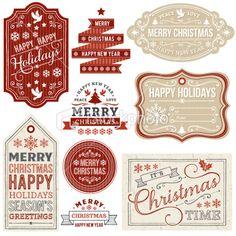 Free Printables - Christmas labels to print