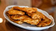 Ingredients:   Chicken thorax (boneless in addition to skinless)  2 eggs  1/2 loving cup of staff of life crumbs  salt in addition to pepper Chicken Schnitzel, Breaded Chicken, Fried Chicken, Turkey Recipes, Chicken Recipes, Vegetable Recipes, Vegetarian Recipes, Polish Soup, Polish Chicken