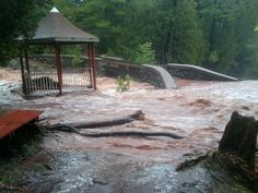 A gazebo floating away in the Duluth flood. Twitter / michaelrentz: @webertom1 @The Daily Circuit from MPR News #