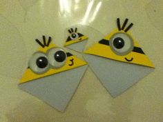 How to make/DIY a minion corner bookmark - YouTube