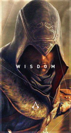 Assassin's Creed, Wisdom, Phone Wallpaper by acTurul - Wallpapers for Phones Assassins Creed Tattoo, Assassins Creed Quotes, Assassin's Creed Hd, All Assassin's Creed, Assasins Cred, Assassin's Creed Wallpaper, Vikings, Action Poses, The Magicians