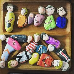 Rock art - mix and match people. Use them for 'All About Me' theme