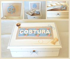 Handmade sewing box