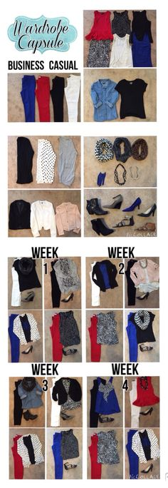 Wardrobe capsule, business casual, planned for Monday-Thursday with Friday being casual jeans day. work outfits, teacher wardrobe, teacher outfit, work wardrobe. What to wear to work, what teachers wear.