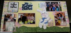 Easter scrapbook layout, Easter basket layout, www.Justkitting.citymax.com