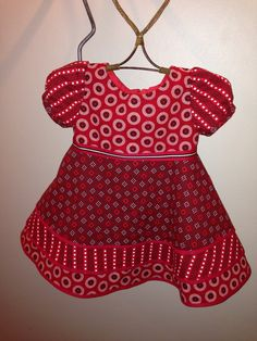 red shweshwe dresses for little girls 2016 - Styles 7 African Attire, African Wear, African Dress, African Fashion, Kids Fashion, Little Girl Outfits, Toddler Outfits, Kids Outfits, Cute Outfits