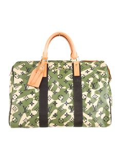 Camo chic with this Louis Vuitton Speedy Bag. (TheRealReal.com)
