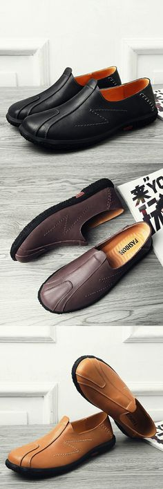 >> Click to Buy << Prelesty Vintage Winter High Quality Genuine Leather Men Shoes Soft Moccasins Fashion Brand Men Flats Comfy Slip On Loafers