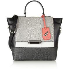 Diane von Furstenberg 440 leather trapeze bag ($645) ❤ liked on Polyvore