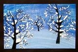 Winter Painting ~ art idea for kids to try #homeschool