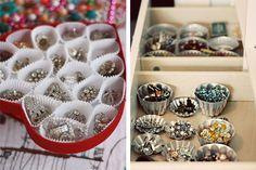 como organizar bijuterias com formas
