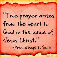-Pres. Joseph F. Smith #LDS #Mormon #Prayer Names Of Jesus Christ, Lds Mormon, How He Loves Us, Lds Quotes, Son Of God, Relief Society, Latter Day Saints, Joseph, Prayers
