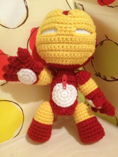 Iron Man Sackboy crocheted doll