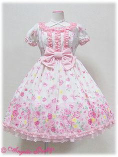 Powder Rose OP in White x Pink from Angelic Pretty - Lolita Desu