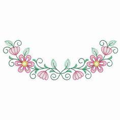 Vintage Floral Necklines - Sweet Heirloom Embroidery   OregonPatchWorks