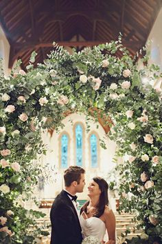 Loophole: get married in a church, but decorate it with flowers so it feels like you're outside!