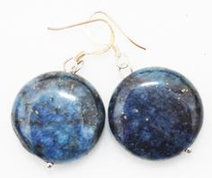 Metaphysical Gifts, Cards, Wrap and Crystals | Life Is A Gift Shop - Lapis Lazuli A  Quality Round Drop Earrings on Silver Hooks for Clarity and Brilliance While You Work, $24.00 (http://lifeisagiftshop.com/lapis-lazuli-a-quality-round-drop-earrings-on-silver-hooks-for-clarity-and-brilliance-while-you-work/)