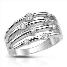 Exquisite Brand New Ring With 0.50ctw Genuine  Diamonds  14K White Gold. Total item weight 5.5g - Size 5 - Certificate Available.